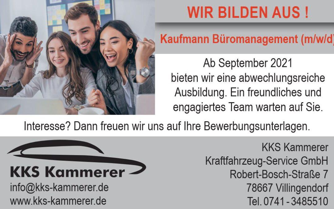 Ausbildung – Kaufmann Büromanagement (m/w/d)